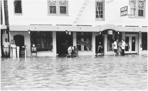 Flooding in Texas caused by Hurricane Beulah in 1967. (National Oceanic and Atmospheric Administration.)