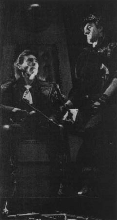 Mike Pratt as Hoss and Christopher Malcolm as Cheyenne in a 1974 production of The Tooth of Crime at the Royal Court Theatre.