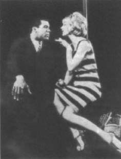 Robert Hooks and Jennifer West as Clay and Lula in the 1964 Cherry Lane Theatre production of