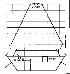 John Barton's stage plan for his 1969 production of Twelfth Night.