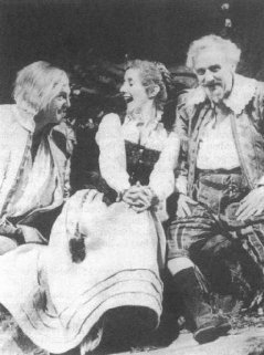 Daniel Massey as Sir Andrew Aguecheek, Gemma Jones as Maria, and John Thaw as Sir Toby Belch in Caird's 1983 RSC production.