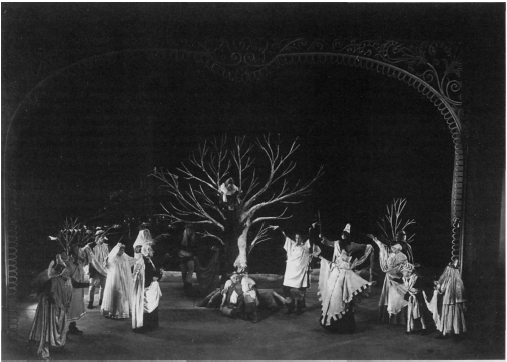 The Herne the Hunter scene (Act V, scene v) from Byam Shaw's production of The Merry Wives of Windsor.