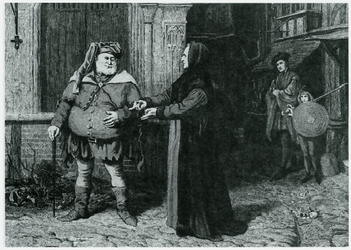 2 Henry IV. Act I, scene ii. Falstaff and the Chief Justice. By F. Barnard (n.d.).