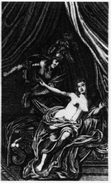 Tarquin and Lucrece. Frontispiece to the Rowe edition of The Rape of Lucrece (1714).